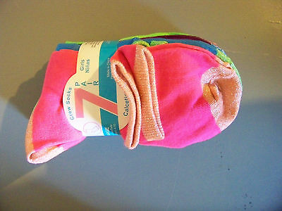NEW!!! 7 Pair Girls Crew Socks Sparkle Design Multi-Color Size Large 4-10 NWT!!!