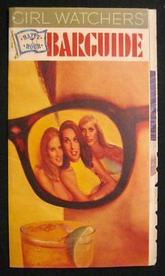 Girl Watchers Happy Hour Barguide Paper Pamphlet Southern Comfort Corp 1969 (O)