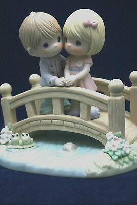 """Precious Moments Inc. 2008  """"Our Love Is The Bridge.."""" 840030 Signed, In Box"""
