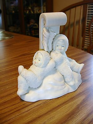 """Dept 56 Snowbabies """"how Many Days Till Christmas"""" Porcelain Figurine (Pre-Owned)"""