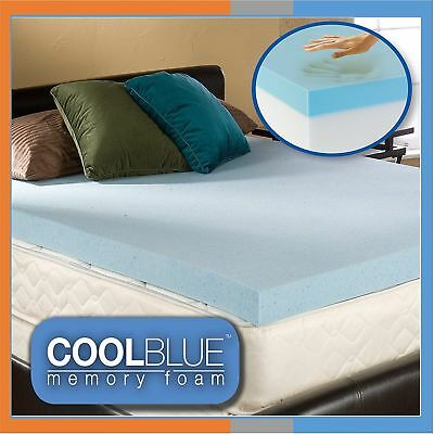 Cool Blue Memory Foam Topper - Transform Your Mattress Today - 3ft, 4ft6, 5ft
