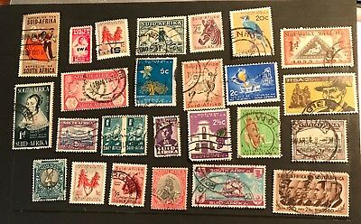 south africa postage stamps lot of 25 old