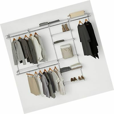 Rubbermaid Configurations Custom Closet Deluxe Kit, White, 4 8 Foot,  FG3H8900.