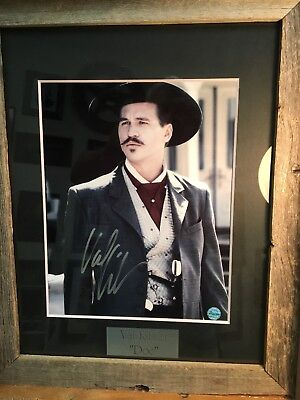 """VAL KILMER SIGNED """"DOC"""" HOLLIDAY """" TOMBSTONE"""" MOVIE POSTER """"Authentic"""" No Copy!!"""