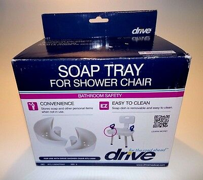 NEW Drive Medical RTL12606 TRAY Soap Tray for Shower Chair w/ Folding Back