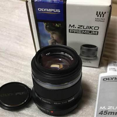 OLYMPUS single focus lens M. ZUIKO DIGITAL 45 mm F 1.8 Black EMS w/ Tracking