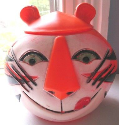 Vintage 1968 Kelloggs Tony The Tiger 7 1/2 Inch Plastic Container