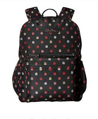 NWOT Vera Bradley HAVANA DOTS Black LIGHTEN UP Backpack DIAPER Baby Bag