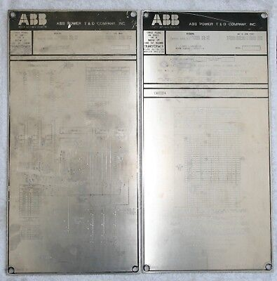 ABB POWER Transformer Nameplates, Great condition, PAIR