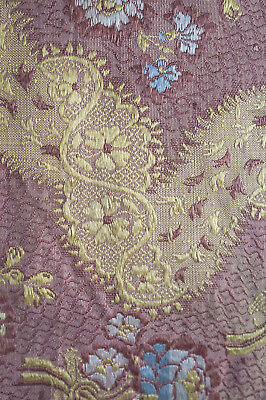 Antique fragment 18th century woven silk from France