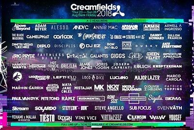 Cream fields ticket. Gold 3 day camping ticket 24th-27th August