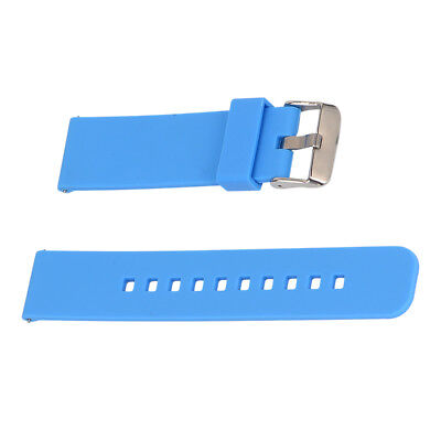 Replacement Silicone Strap bracelet WatchBand for Garmin Fenix Chronos Blue