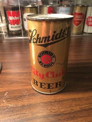 Schmidt's City Club IRTP flat top beer can from St. Paul, Minnesota