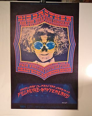 1968 Fillmore Poster #124 BIG BROTHER & THE HOLDING COMPANY
