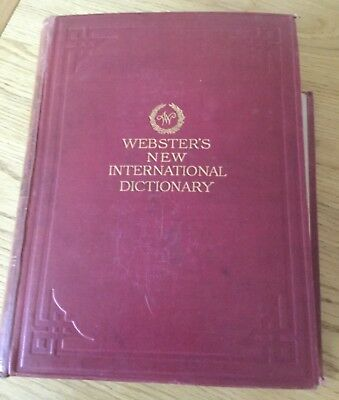 Webster's New International Dictionary  of the English Language 1924 edition