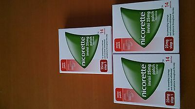 Nicorette Invisi 25mg 14 patches ( 3 PACKS)