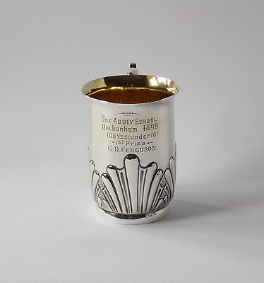 Antique Silver Plated Cup.the Abbey School Beckenham. 1St Prize, 100 Yds. 1896.