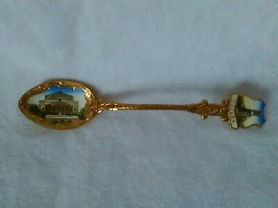 Vintage Russain Enameled Teaspoon Mockba