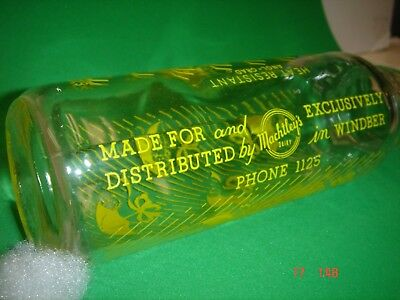 Vintage Baby Bottle Machtley's Dairy Windber PA Somerset County