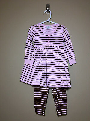 Hanna Andersson PINK & BROWN Play Day DRESS & Loose LEGGINGS 90 3 3T - Item:0017