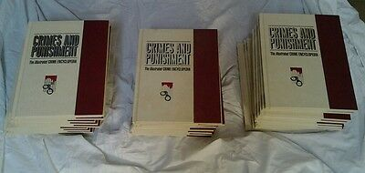 CRIMES AND PUNISHMENT - The Illustrated Crime Encyclopedia Hardcovers x 28