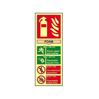 Scan 1591 75 x 200mm Foam PHO Fire Extinguisher Composite Sign