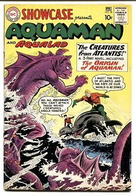 Showcase Comics #30 1961 First Aquaman tryout Origin DC G/VG