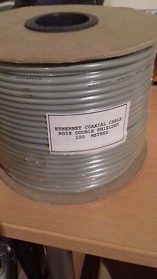 100m RG58 Coaxial Kabel doppelt geschirmt, ETHERNET COAXIAL CABLE DOUBLE SHIELDE