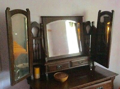 Antique late Victorian dressing table