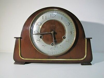 Vintage Smiths Mantel Clock Westminster Acoustic Chime Escapement Movement