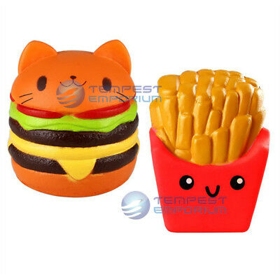 Squishies Scented Selection Burger & Fries Watermelon Stress Relief UK Seller