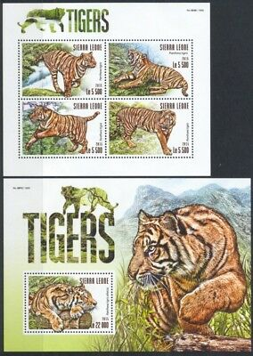 Sierra Leone - 2015 Tiger Tigers - 2 Blocks **
