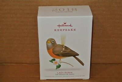 Hallmark Ornament Limited Edition 2018 Lady Robin The Beauty of Birds KOC NIB