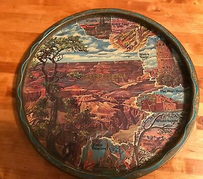 vintage grand canyon national park souvenirs tray art by ken Haag