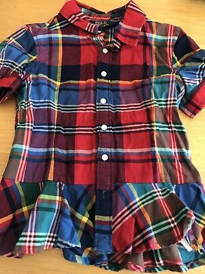 Ralph Lauren Polo Girls Check Shirt Age 6yrs -  Excellent Condition Worn Once