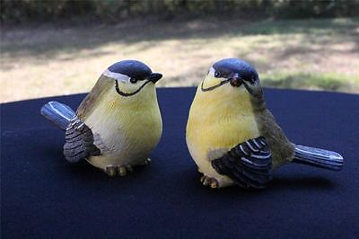 Bird Figurine Figurines New Lot of 2 Easter Spring Yellow Blue Bird Gift 1096A