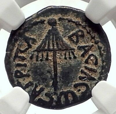 Herod AGRIPPA I JERUSALEM Biblical Claudius Time Ancient Greek Coin NGC i70953
