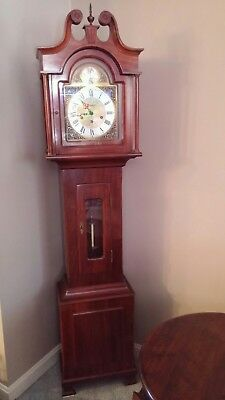 Vintage 1964 Daneker Grandmother/Grandfather Floor Clock Cherry Wood
