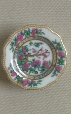 VINTAGE Coalport Signed China Pin Brooch Made in England  BEAUTIFUL