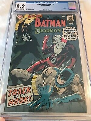The Brave and the Bold #79 CGC 9.2 Ow-White pgs Neal Adams cvr and art Deadman