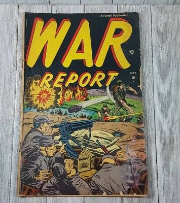 War Report 1 First Issue Pre-Code War! Vol.1 No.1 Sept 1952