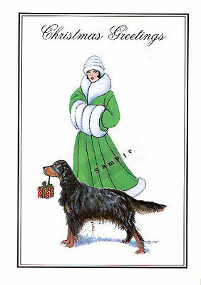 Gordon Setter Christmas Cards Lisa and Graham - Pack of 10