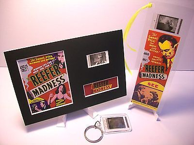 REEFER MADNESS 3 Piece Movie Film Cell Memorabilia Compliments dvd poster weed