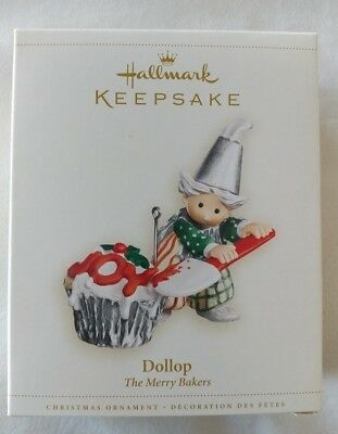 Hallmark Dollop The Merry Bakers Christmas Ornament 2006 JOY Cupcake In Box