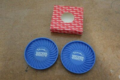 Walker Muffler Advertising Promo Coaster Set Pack of 2 Original Box