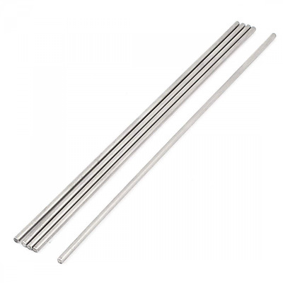 uxcell 5 Pcs 3mm x 200mm DIY RC Car Toy Model Straight Metal Round Shaft Rod Bar