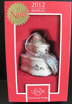 Lenox Annual 2012 Our First Christmas Fine Porcelain Wedding Cake Ornament  BOX