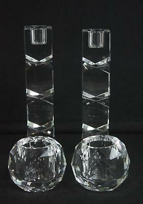 4 Piece Crystal Clear Lighting By Design Shannon Candle Sticks Candle Holders