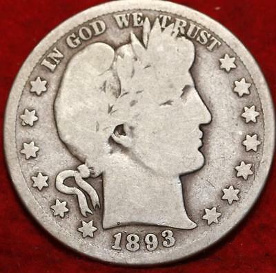 1893-S San Francisco Mint Silver Barber Half Dollar