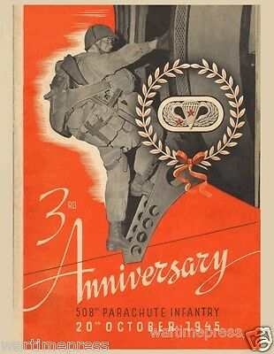 Lot of 5 Identical New Postcards The 508th Parachute Infantry's 3rd Anniversary